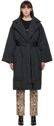 Proenza Schouler Black PSWL Matte Puffer Belted Coat