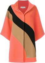 Emilio Pucci block colour cape coat