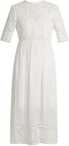 Zimmermann Caravan embroidered cotton dress