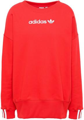 adidas Embroidered Cotton-blend Fleece Sweatshirt