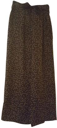 Dries Van Noten Black Silk Trousers