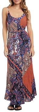 Karen Kane Cami Scarf-Print Maxi Dress
