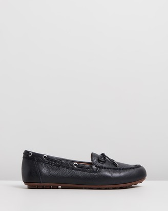 Vionic Women's Black Brogues & Loafers - Virginia Leather Moccasins - Size One Size, 5 at The Iconic
