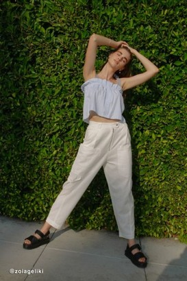 Urban Outfitters Kinley Linen Cargo Pant