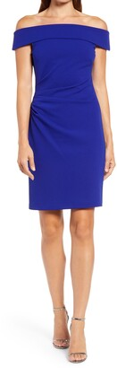 Vince Camuto Off the Shoulder Body-Con Dress