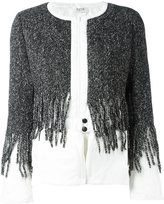 Aviu fringed detail cardigan - women - Cotton/Feather Down/Polyamide/Wool - 42
