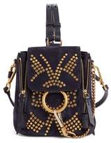 Chloé Mini Faye Studded Leather Backpack