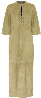 Schumacher Dorothee Velour Softness suede maxi dress