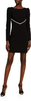 HANEY Audrey Long-Sleeve Shift Dress