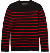 The Elder Statesman - Picasso Striped Cashmere Sweater
