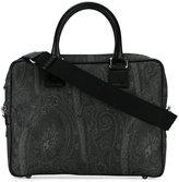 Etro paisley print briefcase - men - Cotton/Polyester/Polyurethane/PVC - One Size