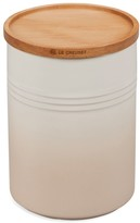 Le Creuset 2.5-Quart Stoneware Canister with Wood Lid