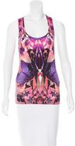 Alexander McQueen Orchid Print Sleeveless Top