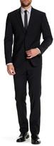 John Varvatos Notch Lapel Two Button Solid Suit
