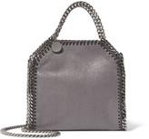 Stella McCartney The Falabella Tiny Faux Brushed-leather Shoulder Bag - Dark gray