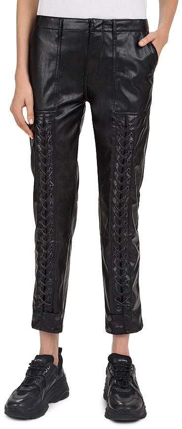 7d6fad432cb98e Faux Leather Patch Pants - ShopStyle