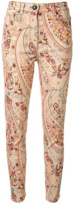 Etro Paisley-Print Skinny Jeans