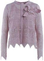 Twin-Set Pink Macramè Lace Short Jacket