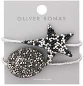 Oliver Bonas Set of Two Shimmer Star & Oval Hair Elastics
