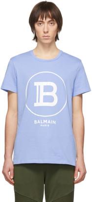 Balmain Blue Logo T-Shirt