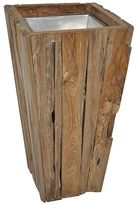 Soundslike HOME Teak Remnant Tapered Square Planter, Medium
