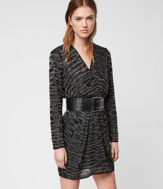 AllSaints Laney Embellished Dress
