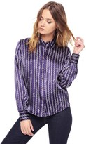 Juicy Couture Silk Juicy Chain Print Blouse