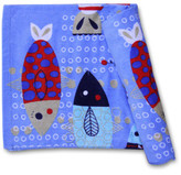 Wonga Road Fishy Fish Printed Kids Beach Towel +zip