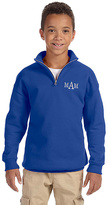 Princess Linens Royal Blue Monogram Quarter-Zip Fleece Pullover - Boys