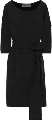 Diane von Furstenberg Tie-back Draped Merino Wool Dress