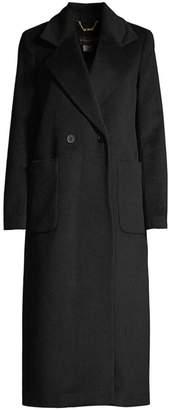 Donna Karan Long Wool & Cashmere-Blend Coat