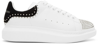 Alexander McQueen SSENSE Exclusive White and Black Stud Oversized Sneakers