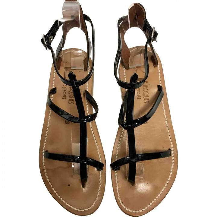 K. Jacques Black Patent leather Sandals