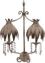 A&B Home Leaf Filigree Wall Lamp