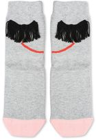 Stella McCartney trumpet grey face socks