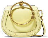 Chloé Nile Bracelet Small Leather And Suede Shoulder Bag - Pastel yellow