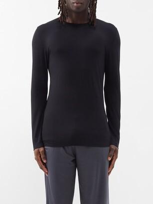 Zimmerli 700 Pureness Pyjama Top - Black