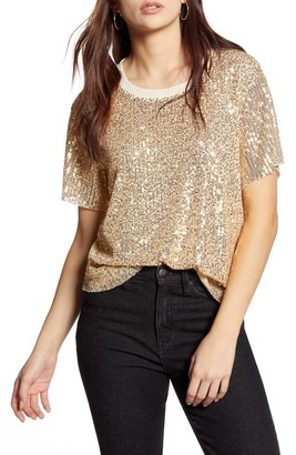 ALL IN FAVOR Sequin Tee