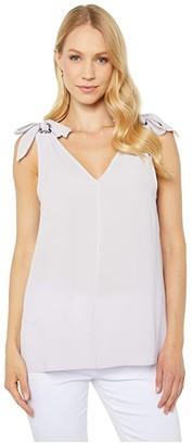MICHAEL Michael Kors Ring Tie V-Neck Sleeveless Top (Lavender Mist) Women's Blouse