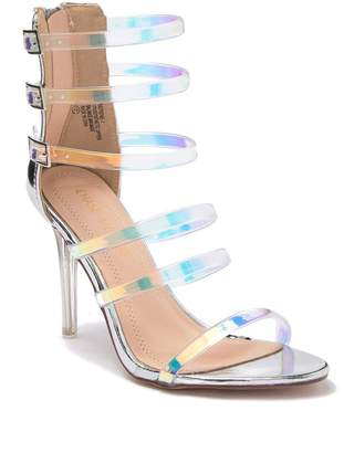Chase & Chloe Serene Iridescent Heel Sandal