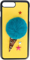 Dolce & Gabbana appliquéd phone case - women - Artificial Fur/Calf Leather - One Size