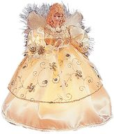 Kurt Adler 9-in. LED Ivory & Gold Angel Christmas Tree Topper