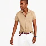 J.Crew Short-sleeve camp-collar shirt in broken-in chino