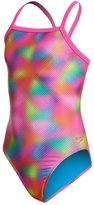 Speedo Youth Flipturns Blurred Triangles One Piece Swimsuit 8146099