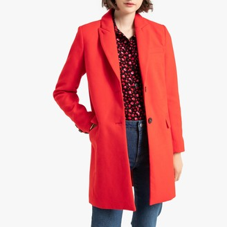 La Redoute Collections Single-Breasted Coat with Buttons