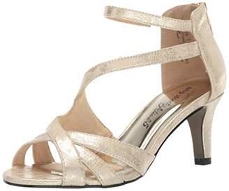 Easy Street Shoes Women's Brilliant Heeled Dress Sandal with Back Zipper Shoe