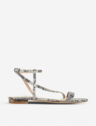 Dune Nicoletta snakeskin-print faux-leather sandals