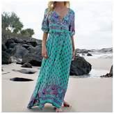 Mapletop Women Long Maxi Long Sleeved Sexy Dress (L, )