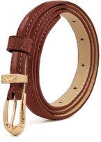 uxcell® Women Single Pin Buckle Slim Patent PU Waist Belt