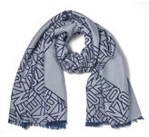 Kenzo Flying Devore Scarf Blue